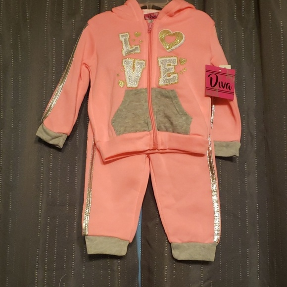 NWT girls sweat set